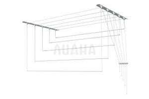 Сушилка для белья настенно-потолочная, металл, 2м