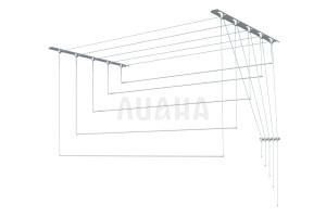 Сушилка для белья настенно-потолочная, металл, 2,4м