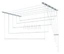 Сушилка для белья настенно-потолочная вкоробке, металл, 1,7м